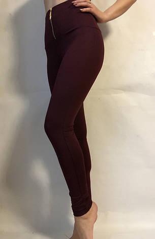 Женские лосины (норма) № 71Бордовый, фото 2