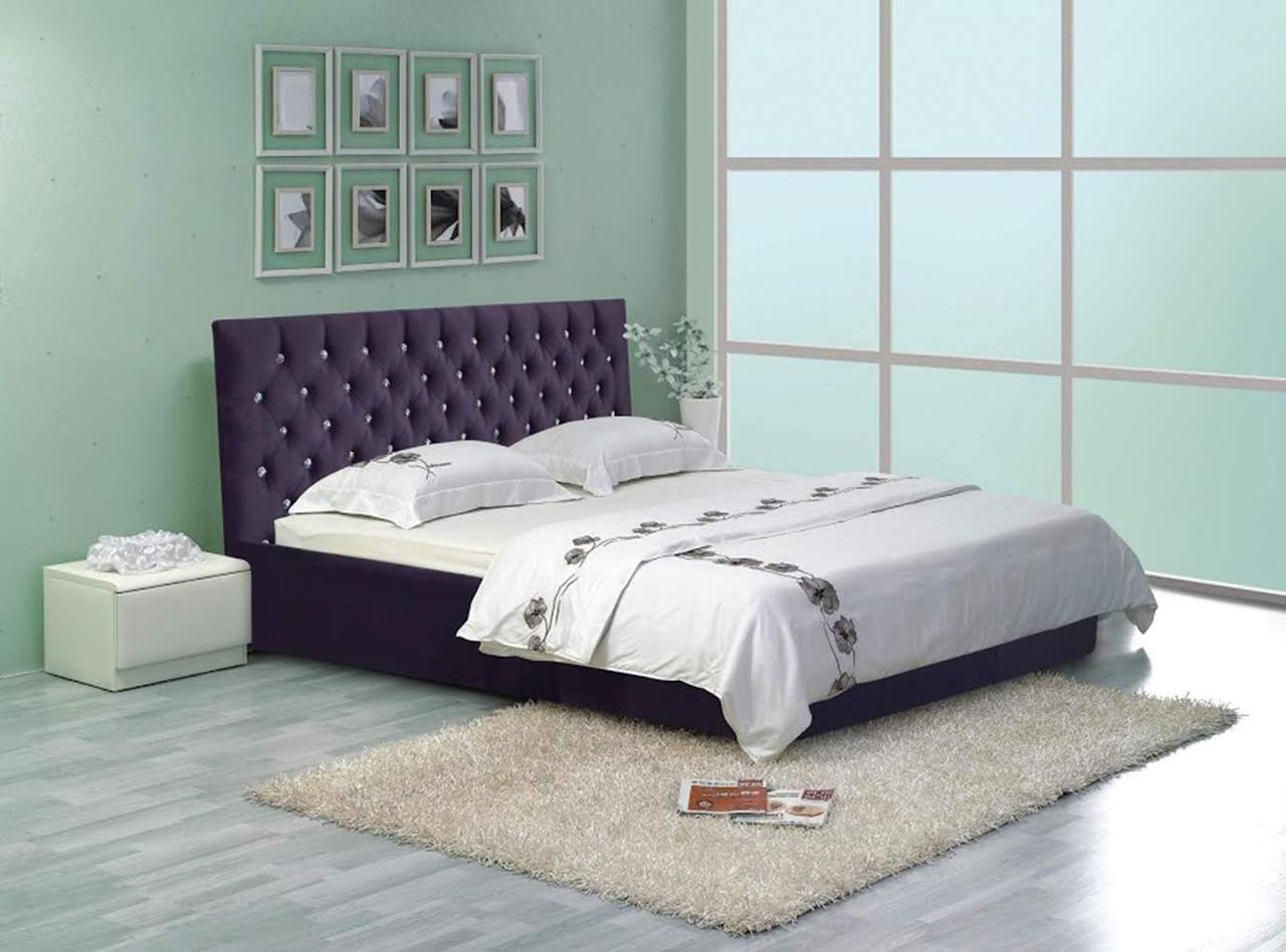 """Кровать Кембридж (с пуговицами) (комплектация """"VIP"""") с подъем.мех."""