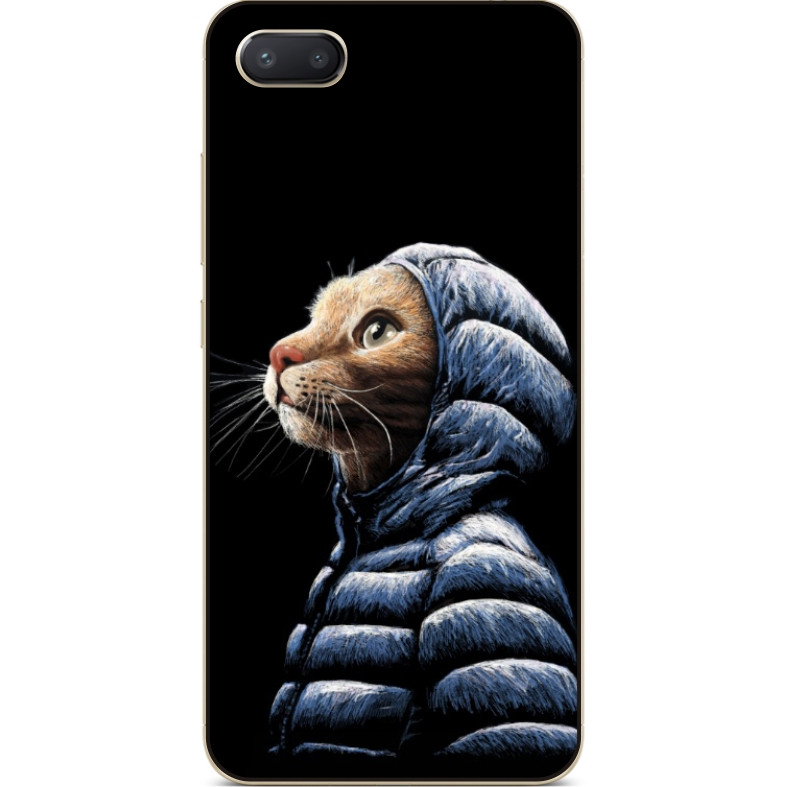 Чехол силиконовый бампер для Iphone 6 с рисунком Кот