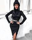 Платье в рубчик с двойным горлом, фото 10