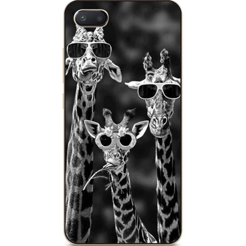 Чехол силиконовый бампер для Iphone 6 с рисунком Жирафы