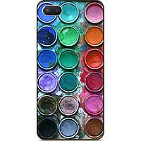 Чехол силиконовый бампер для Iphone 6 с рисунком Краски