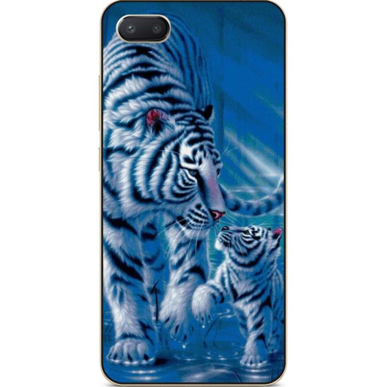 Чехол силиконовый бампер для Iphone 6 с рисунком Тигры