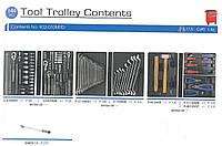 Набор инструментов для тележки 144 пр. (Ложементы) KING TONY 932-010MRD, фото 1