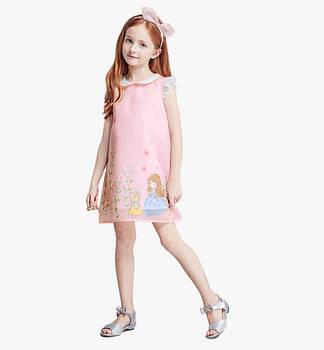 Платья с коротким рукавом для девочек