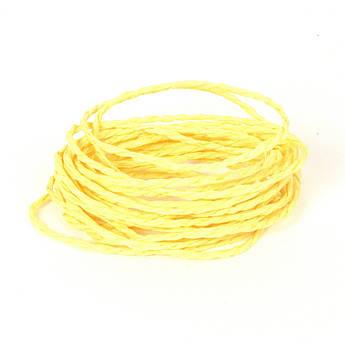 Желтый бумажный канат для упаковки подарка 3 метра