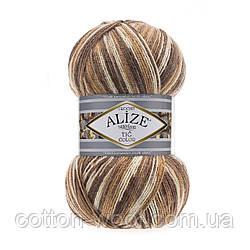Alize SUPERLANA TIĞ COLOR (Супер лана тиг колор) состав: 25% - шерсть, 75% - акрил