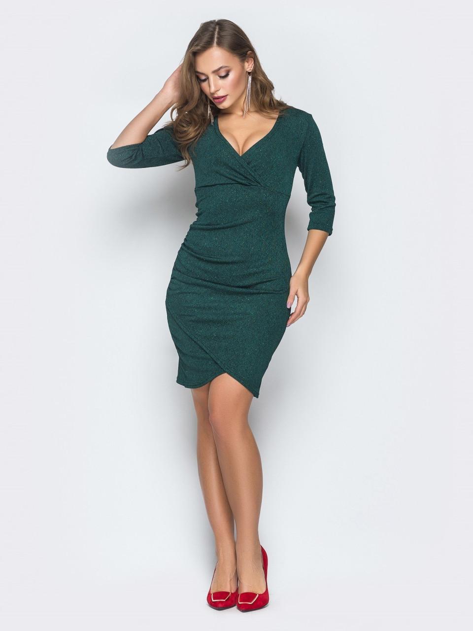 80cbd2ecf46 ⭕️Нарядное платье с блестящим напылением (зеленое