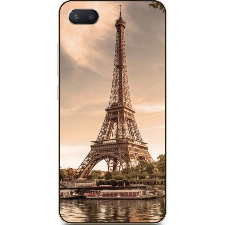 Чехол силиконовый бампер для Iphone 6 с рисунком Эйфелева башня