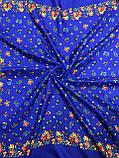 Жіночий український хустку в синьому кольорі 80х80 см (кол.6), фото 2