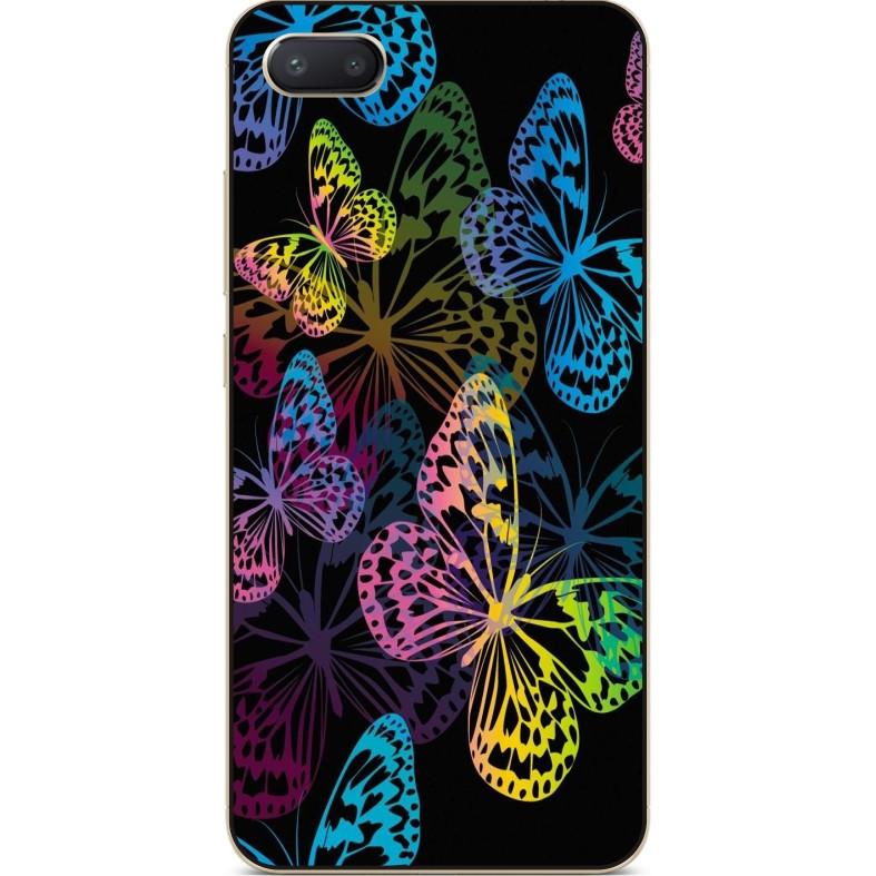 Чехол силиконовый бампер для Iphone 6 с рисунком Бабочки