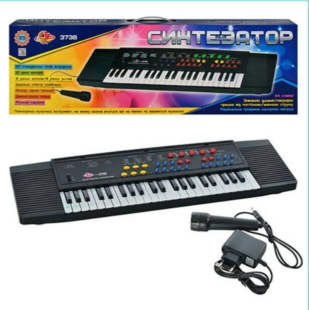 Детский синтезатор-пианино SK 3738 с микрофоном 44 клавиши, Electronic Keyboard