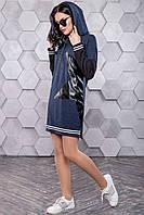 Платье 12-1090 - синий: S М L XL, фото 1