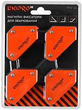 Набор магнитный угольников для сварки Dnipro-M MW-44 4 шт