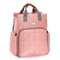 5000106 Рюкзак для мам купить стеганая оранжевая, фото 1
