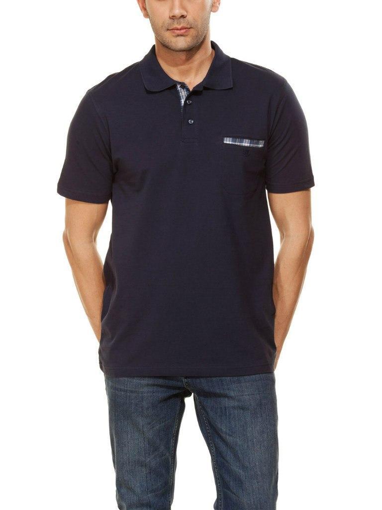 Синее мужское поло LC Waikiki / ЛС Вайкики с карманом на груди