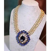 Колье .Ожерелье .Синее.