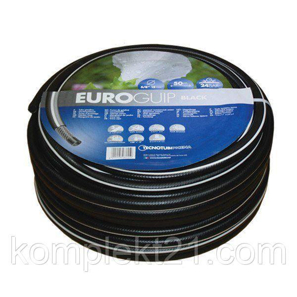Шланг садовий Tecnotubi Euro Guip Black для поливу діаметр 1 дюйм, довжина 25 м (EGB 1 25)