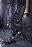 Мужские спортивные штаны BEZET Freestyle black/khaki'19 , мужские спортивные штаны с лампасами, фото 1