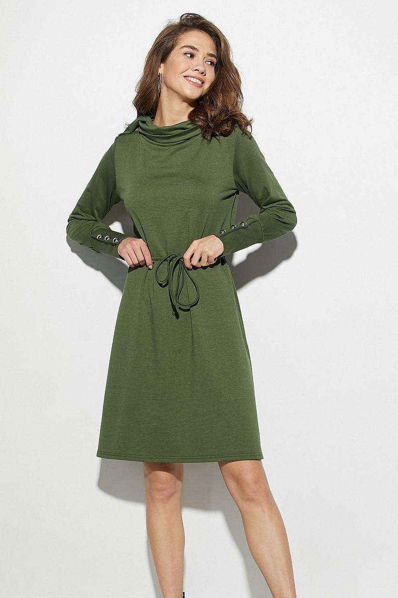 (S, M, L) Жіноче повсякденне зелене плаття Milton
