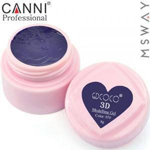 CANNI гель пластилин в баночке 3D Modelling Gel 8ml №07/767 темно фиолетовый, фото 2