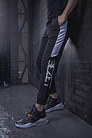 Мужские спортивные штаны BEZET Freestyle black/white'19, мужские спортивные штаны с лампасами, фото 1