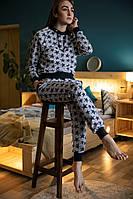 """Утепленный женский костюм из трикотажного хлопкового двуниточного полотна """"футер"""""""