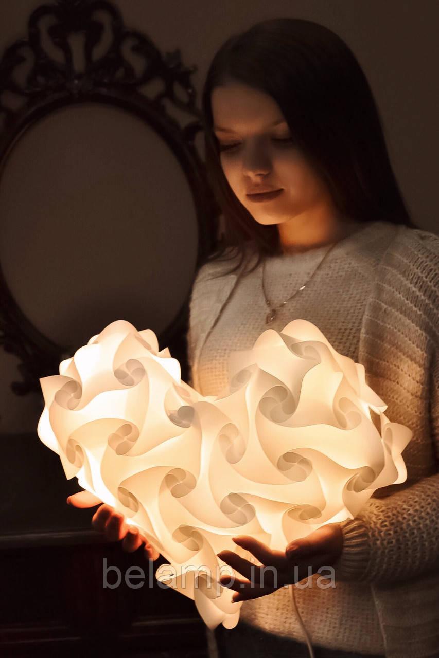 """Светильник и ночник (лампа-уютница) """"Нежное сердце"""""""