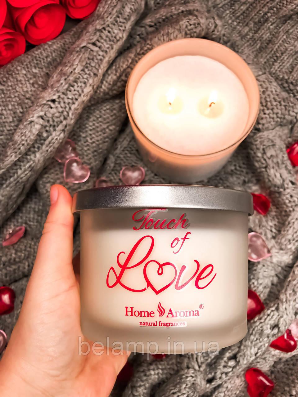 Свеча в банке с 2 фитилями «Любовь»