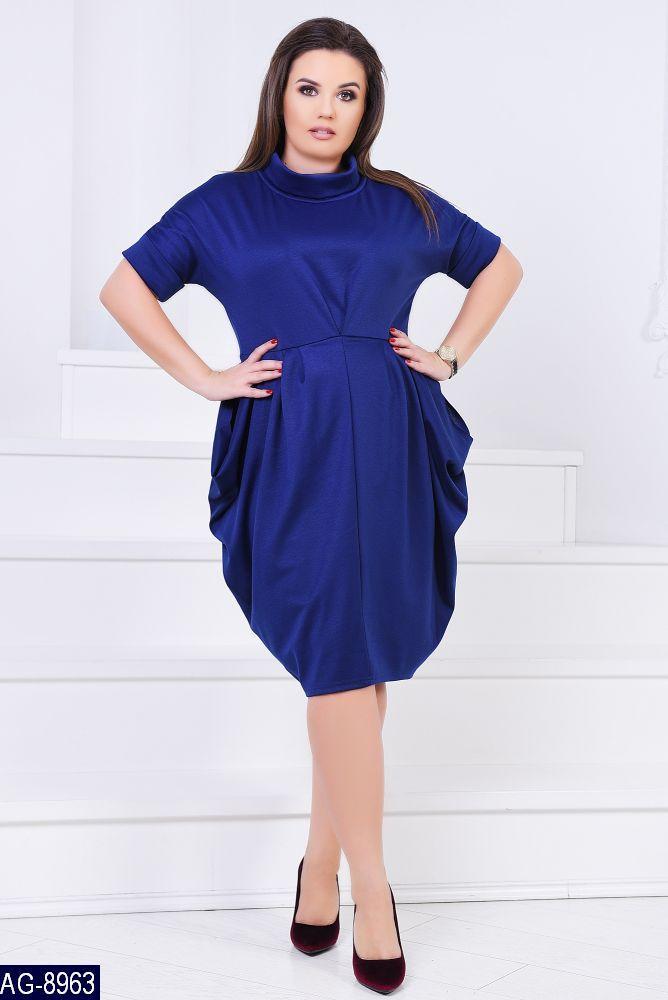 Стильное платье    (размеры 46-60)  0149-58