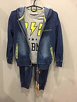 Костюм тройка для мальчика под джинс 3/4 л, фото 1