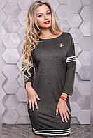 Платье 12-1105 - серый: М L XL XXL, фото 1