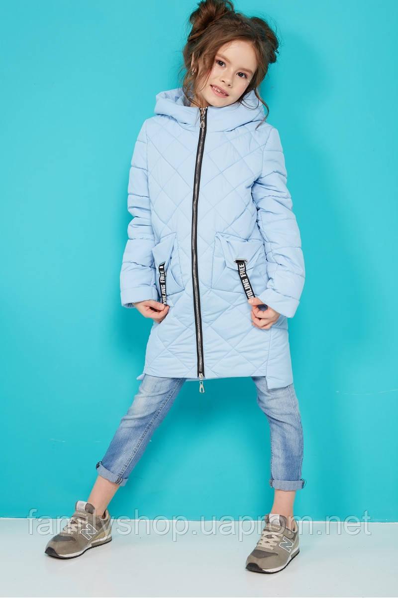 Детская осенняя удлиненная куртка на девочку Жаклин  NUI VERY (нью вери)