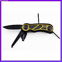 Нож туристический складной для выживания охоты и рыбалки мультитул 006
