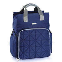 5000108 Рюкзак для мамы и малыша стеганая синяя, фото 1