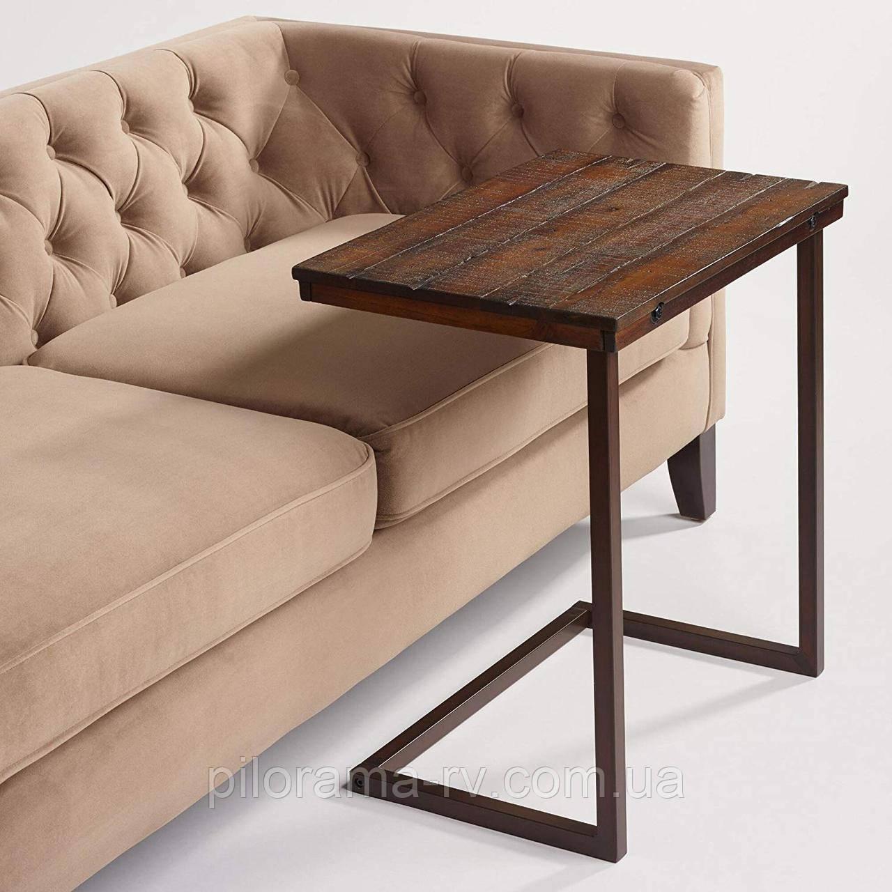 журнальный столик из дерева и металла для планшета и для ноутбука