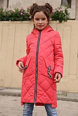 Детская осенняя удлиненная куртка на девочку Жаклин  NUI VERY (нью вери), фото 3