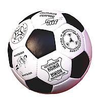 Футбольный мяч КОЖАНЫЙ белый