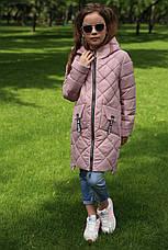 Детская осенняя удлиненная куртка на девочку Жаклин  NUI VERY (нью вери), фото 2