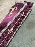 Гроб - драпировка атлас (гербы)