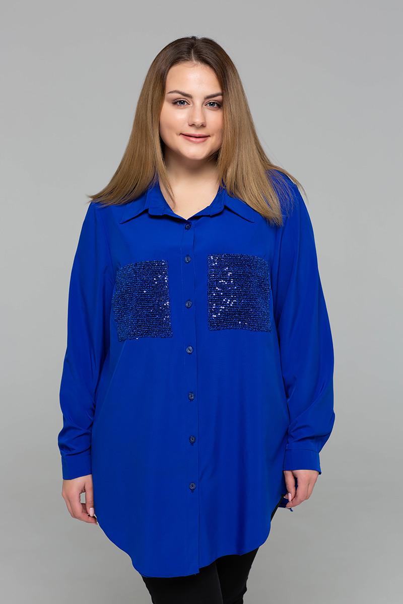 97f9d385c160 Шифоновая блузка больших размеров