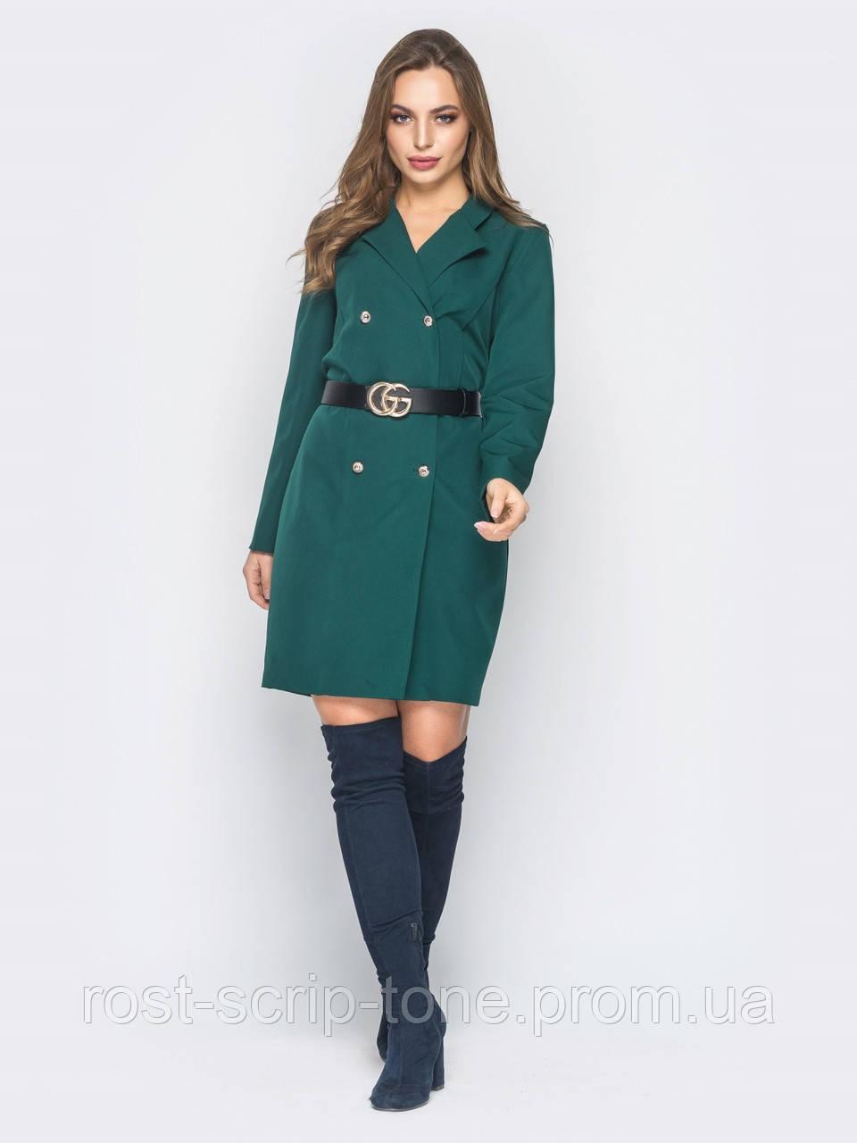 2bd32ba95c1 ♥️Двубортное платье-пиджак с лацканами (зеленое