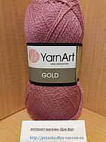 Акриловая пряжа с люрексом YarnArt Gold 10595 (сухая роза)
