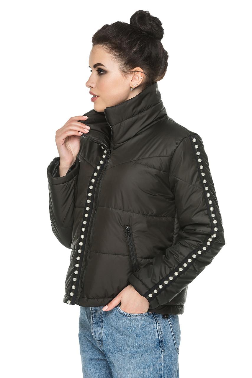 85e2967d346 Короткая демисезонная женская куртка черная - Интернет магазин для всей  семьи AnnaskoStyle в Львовской области