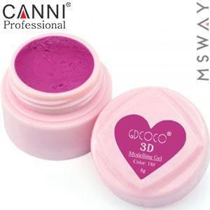 CANNI гель пластилин в баночке 3D Modelling Gel 8ml №18/778 темно розовый, фото 2