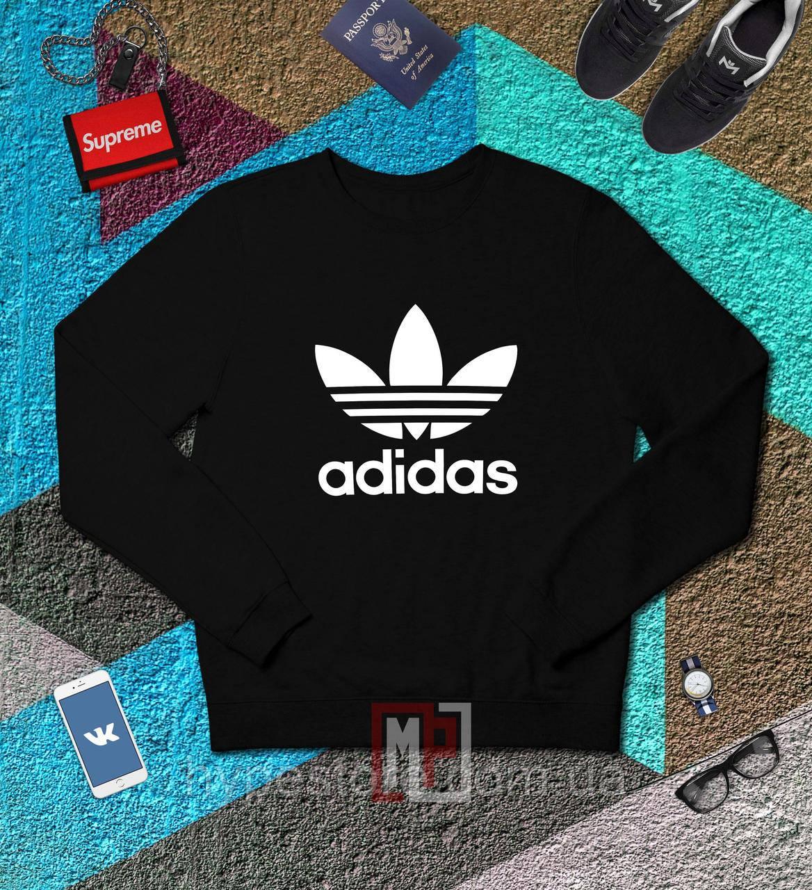Мужской спортивный свитшот, кофта, лонгслив, реглан Adidas, Реплика