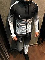 Спортивный костюм мужской N*ke черный  весна осень лето спортивный костюм градиент  РАЗНЫЕ ЦВЕТА