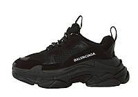 Balenciaga Triple S Black Men мужские кроссовки / Мужская обувь Баленсиага Трипл С черные люкс