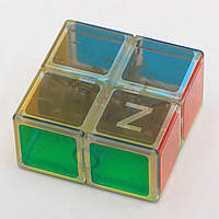 Кубик головоломка кубоід Z-cube 2x2x1, прозорий пластик, фото 1