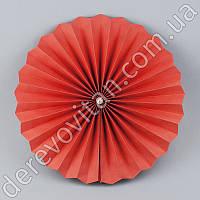Подвесной бумажный веер с жемчужиной, красный, 30 см